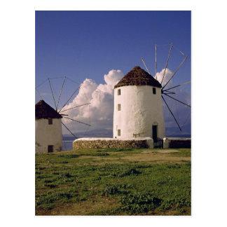 Europa, Grecia, Mykonos. Blanqueado Tarjeta Postal