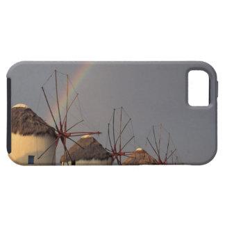 Europa, Grecia, Mykonos. molino de viento con el iPhone 5 Carcasas