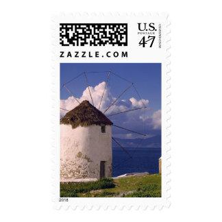 Europa, Grecia, Mykonos. Un blanco llamativo Timbres Postales