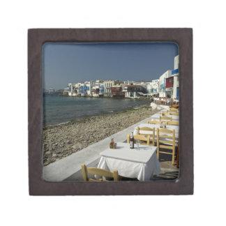 Europa, Grecia, Mykonos. Vistas de la playa Caja De Recuerdo De Calidad