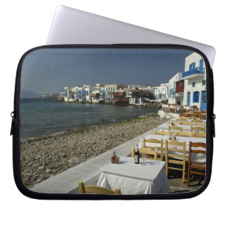 Europa, Grecia, Mykonos. Vistas de la playa Funda Ordendadores