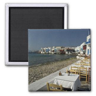 Europa, Grecia, Mykonos. Vistas de la playa Imán Cuadrado