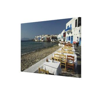Europa, Grecia, Mykonos. Vistas de la playa Impresiones En Lienzo Estiradas