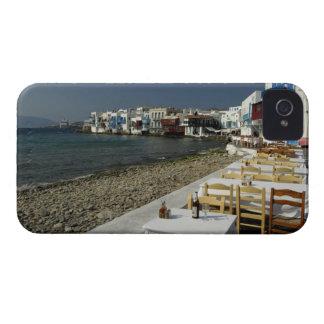 Europa, Grecia, Mykonos. Vistas de la playa iPhone 4 Case-Mate Cárcasa