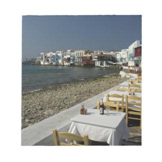 Europa, Grecia, Mykonos. Vistas de la playa Libreta Para Notas