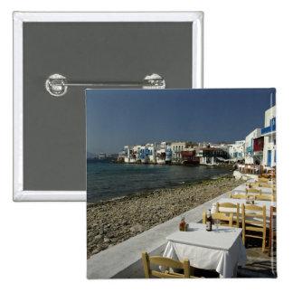Europa, Grecia, Mykonos. Vistas de la playa Pin Cuadrado
