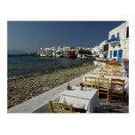 Europa, Grecia, Mykonos. Vistas de la playa Postales