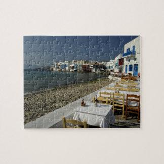 Europa, Grecia, Mykonos. Vistas de la playa Puzzles Con Fotos