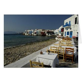 Europa, Grecia, Mykonos. Vistas de la playa Tarjeta De Felicitación