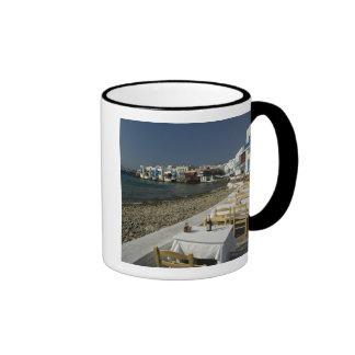 Europa, Grecia, Mykonos. Vistas de la playa Taza De Dos Colores