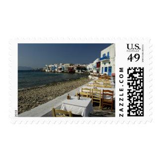 Europa, Grecia, Mykonos. Vistas de la playa Timbre Postal