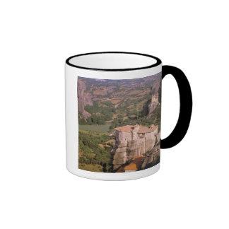 Europa, Grecia, Thessaly, Meteora, Kastraki. Tazas De Café