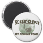 Europa Ice Fishing Team 2 Inch Round Magnet