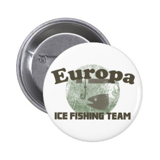 Europa Ice Fishing Team Pinback Buttons