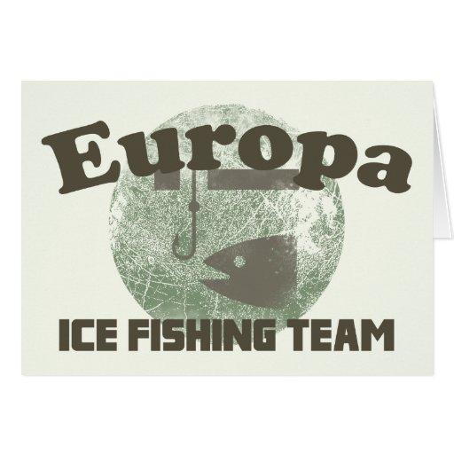 Europa Ice Fishing Team Card