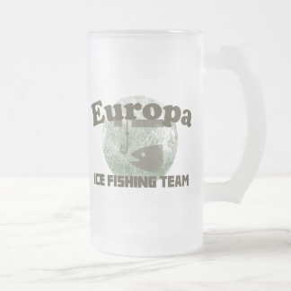 Europa Ice Fishing Team Frosted Glass Beer Mug