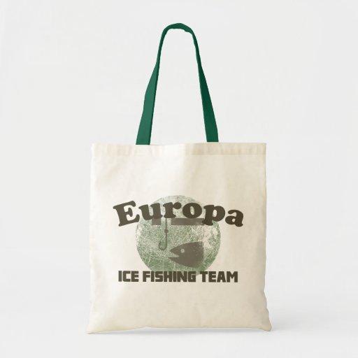 Europa ice fishing team tote bag zazzle for Ice fishing bag
