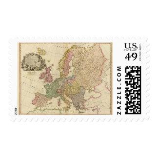 Europa ilustró el mapa franqueo