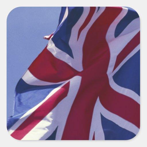 Europa, Inglaterra, bandera británica Colcomanias Cuadradas