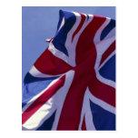 Europa, Inglaterra, bandera británica Tarjeta Postal