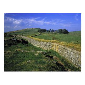 Europa, Inglaterra, la pared de Hadrian. Las Tarjetas Postales