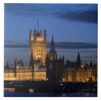 Europa, INGLATERRA, Londres: Casas del parlamento/ Azulejo Cuadrado Grande