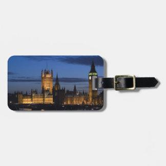 Europa, INGLATERRA, Londres: Casas del parlamento/ Etiquetas Maleta