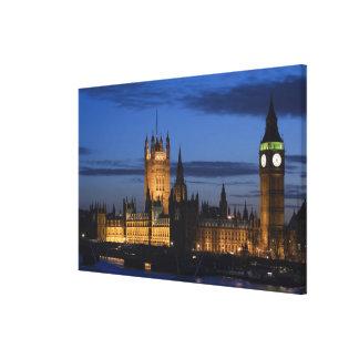 Europa, INGLATERRA, Londres: Casas del parlamento/ Impresión En Lienzo Estirada