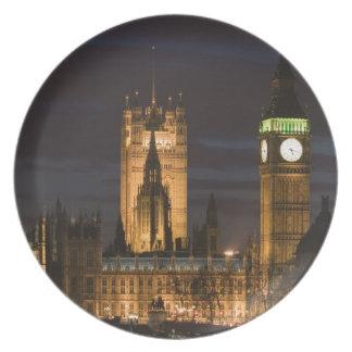 Europa, INGLATERRA, Londres: Casas del parlamento/ Plato De Comida