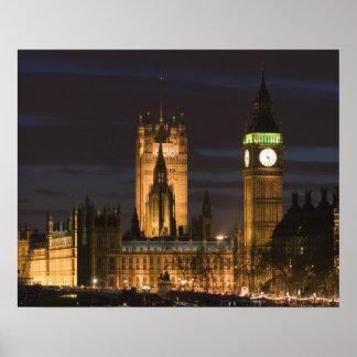Europa, INGLATERRA, Londres: Casas del parlamento/ Póster