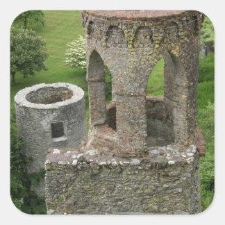 Europa, Irlanda, castillo de la lisonja. ESTA Pegatina Cuadrada