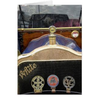 Europa, Irlanda, Dublín. Auto del vintage, blanco  Tarjeta De Felicitación