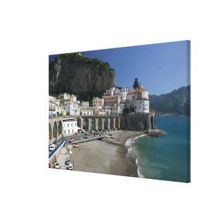 Europa, Italia, Campania, (costa de Amalfi), Amalf Lona Estirada Galerias