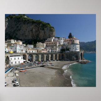 Europa Italia Campania costa de Amalfi Amalf Posters