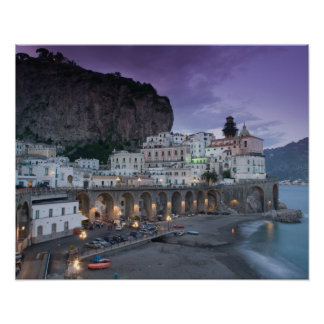 Europa, Italia, Campania (costa) de Amalfi Atrani: Póster