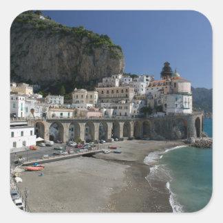 Europa, Italia, Campania, (costa de Amalfi), Pegatina Cuadrada
