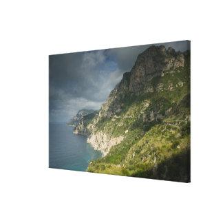 Europa, Italia, Campania (costa) de Amalfi Positan Lona Envuelta Para Galerías