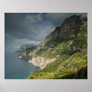 Europa, Italia, Campania (costa) de Amalfi Positan Impresiones