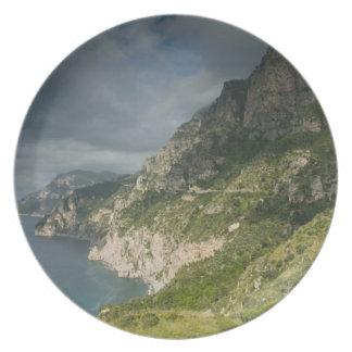 Europa, Italia, Campania (costa) de Amalfi Positan Plato De Comida