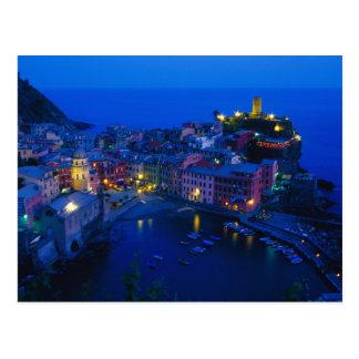 Europa, Italia, Cinque Terre, Vernazza. Ladera Tarjeta Postal