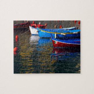 Europa, Italia, Cinque Terry, barcos en Vernazza Puzzles Con Fotos