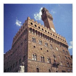 Europa, Italia, Florencia. El Plazzo medieval Fotografía