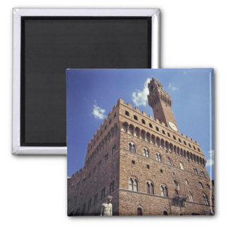 Europa, Italia, Florencia. El Plazzo medieval Imán Cuadrado