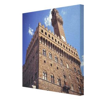 Europa, Italia, Florencia. El Plazzo medieval Lona Estirada Galerias