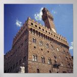Europa, Italia, Florencia. El Plazzo medieval Póster