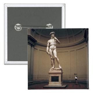 Europa, Italia, Florencia. El tamaño real de Pin Cuadrado