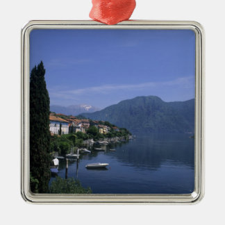 Europa, Italia, lago Como, Tremezzo. Septentrional Adorno Navideño Cuadrado De Metal