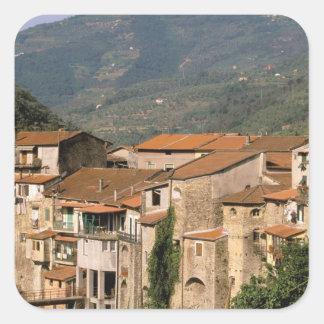 Europa, Italia, Liguria, Riviera di Ponente, Pegatina Cuadrada