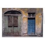 Europa, Italia, Lucca. Estas puertas viejas añaden Tarjeta De Felicitación