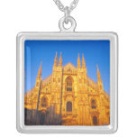 Europa, Italia, Milano, catedral de Milano Collar Plateado